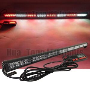 35 Led Traffic Advisor Red White Tow Truck Stick bar Strobe Light Bar 12 24v