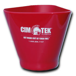 Cim tek 60072 Ez grip Filter Cup large For 5 Diameter Filters