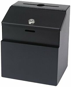 Safco Products 4232bl Steel Suggestion Box Black