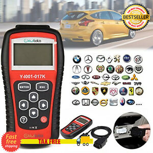 Car Obd2 Scanner Tool Diagnostic Code Reader Abs Srs Airbag Check Engine Light