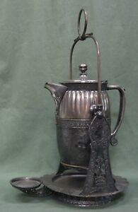 Antique Derby Silver Plate Co Russian Tea Warmer