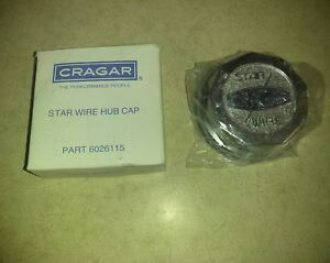 1 New 2nd Gen Cragar Star Wire Wheel Center Hub Caps Tru 30 Spoke True Crager