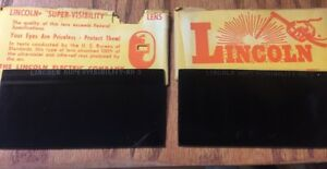 2 Vtg Lincoln Super Visibility Lens Shade No 9 Welding Brand New