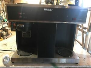 Bunn Vps Series Blk commercial Coffeemaker 3 Warmers stn Stl no Plumbing Needed