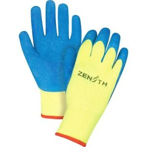12 Pairs Work Gloves High Visibility Rubber Coated Acrylic Lined Gloves medium