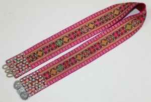 Old Tribal Exotic Chinese Yi People S Hand Embroidery Costume Waistbelt