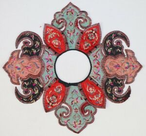 Old Chinese Hand Embroidery Costume Shawl Collar