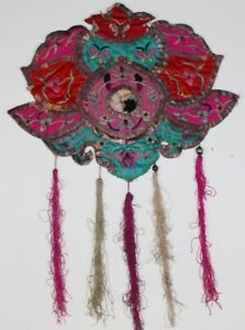 Old Chinese Hand Embroidery Decorative Hanging
