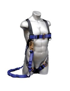 Elk River 48013 Construction Harness W Attached 6 Zsnaphook Lanyard S xl