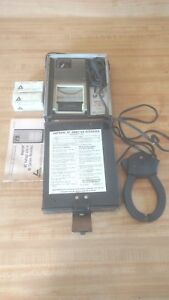 Vintage Amprobe Ac Ammeter Recorder 850a W case leads record Chart Rolls