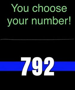 Thin Blue Line Custom License Plate Police Reflective Car Tag Metal 6 X12