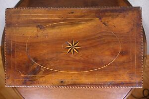 Antique Inlaid Marquetry Handmade Lg Early 20 Mahogany Bible Document Box