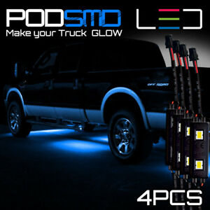 Blue Led 4x4 Off Road Under Body Rock Lights Ultra Bright For F150 F250 F350