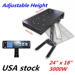 Us 24 x18 New Flash Dryer Silkscreen T shirt Printing Curing Adjustable Height