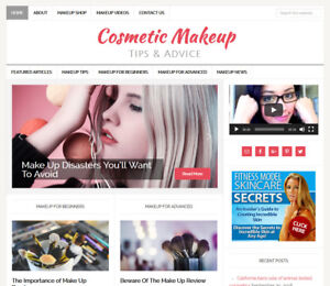cosmetic Makeup Tips Turnkey Website Business For Sale W Automatic Content