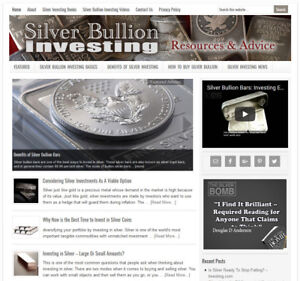 Silver Investing Affiliate Website Business For Sale W Auto Content Updates