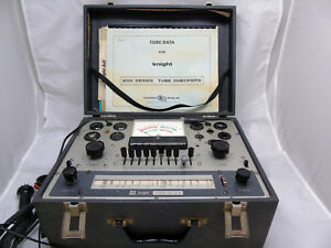 Vintage Knight Kg 600b Tube Tester Crt Adapter Original Assembly Manual Ham Cb