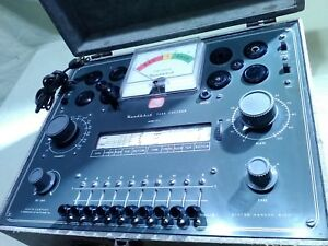 Refurbished Heathkit Tc 2 Tube Tester With Manual And 3 Extra Data Sheets