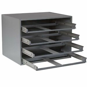 Durham Slide Cabinet 20x15 3 4 X14 1 2 4 drawer Cabinet Gray