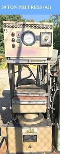 Lab Press Phi 50 Ton Rubber Molding Electric Heat Platen