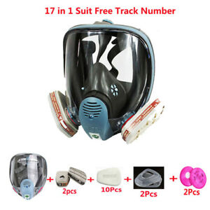 17 In 1 Painting Spraying Same For 6800 Full Face Chemical Gas Mask Respirator