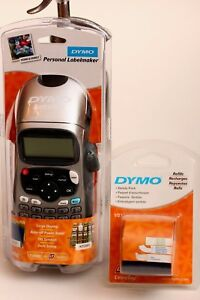 New Dymo Personal Label Maker Letratag With 3 Extra Refills Variety Pack Lt 100h