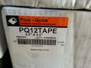 Press quick Pressure Sensitive Envelopes Pk 12 Tape 1000 Ct
