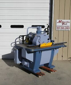 Oliver Straigh Line Rip Saw 4925 001 With Laser 15 Hp 2 Hp 3 Ph 4500 Rpm
