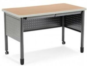 Ofm Mesa Series Steel Training Table And Desk With Pencil Drawers 27 75 X