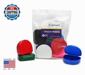 Element Retainer Cases 10 Pack Assorted Colors Invisalign Orthodontic Nightguard