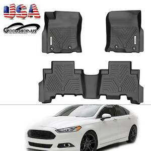 Front Rear Floor Mats Liners For 2013 2019 Toyota 4runner All Weather Protection