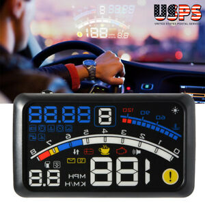 5 5 Car Head Up Display Obd2 Hud Projector Speedometer Mph Km H Speed Warning