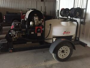 Shark Mobile Detail Hot Cold Pressure Washer Trailer W Tank