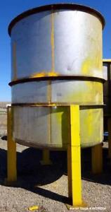 Used Tank Approximate 2 300 Gallon Stainless Steel Vertical Approximate 84