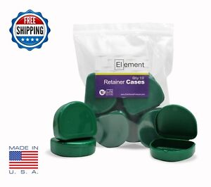 Element Retainer Cases 10 Pack Green Invisalign Orthodontic Nightguard Dental