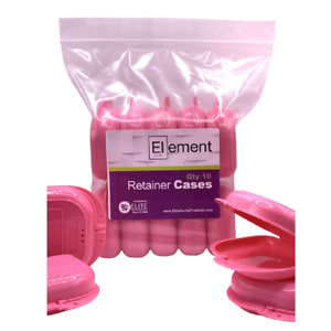 Element Retainer Cases 10 Pack Red Braces Orthodontic Nightguard Dental