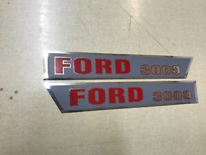 Ford 3000 Hood Decals 64 68 Model