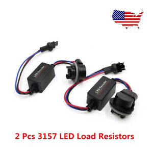 2x Canbus Decoder 3157 4157 Load Resistor For Switchback Turn Signal Light Hyper