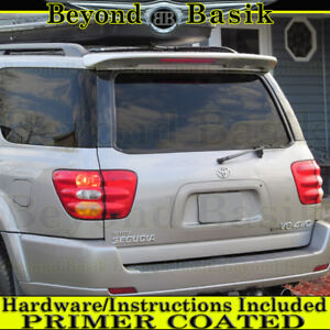 For 2001 2007 Toyota Sequoia Factory Style Spoiler Roof Wing W Led Primer