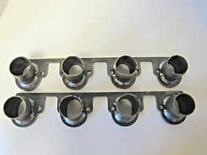 Big Block Ford Header Flanges W Stubs Welded 429 460 2 1 4 Port 3 8 Flange