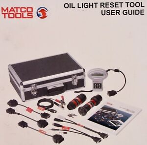 Matco Tools Oil Light Reset Tool Kit Benz Bmw Volvo Md3596g 8 W Obd Adapters