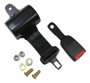 Black Retractable Forklift Replacement Seatbelt W Hardware