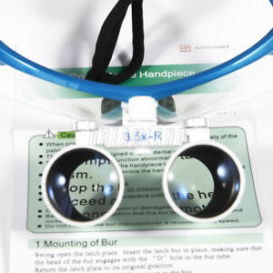 3 5x Loupes Surgical Medical Binocular Optical Glass Dentist Magnifier Blue K s