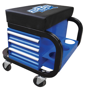 Mechanics Creeper Roller Seat With 3 Drawer Storage Can Holders 888 By Sp Tool