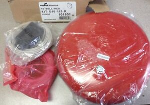 New With Wiring Cooper Wheelock 10 Red Fire Alarm Bell 43t g10 115 r Vibrating