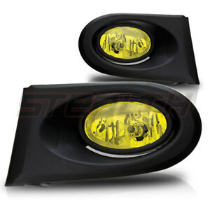 For 2002 2004 Acura Rsx Fog Lights Wiring Switch And Bezels Yellow Lens