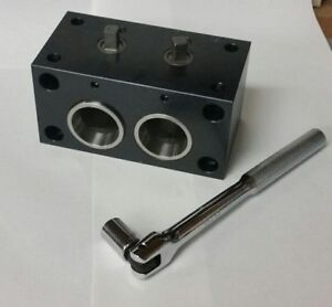 5c Collet Block With Wrench And Riser Blocks