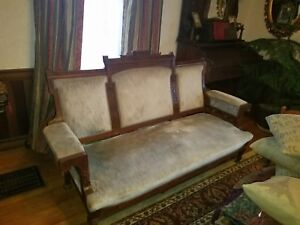 Antique Late 1800 S Aesthetic Movement Sofa And Chair