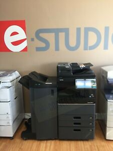 Toshiba E studio 3505ac Color B w Print scan fax low Meter finisher Included