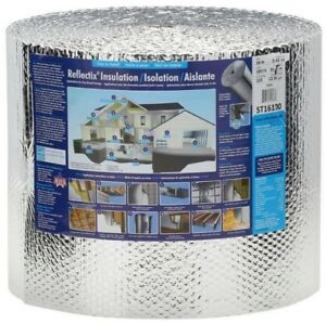 Bubble Foil Reflective Insulation Roll Double Radiant House Barrier 16 X 100 Ft